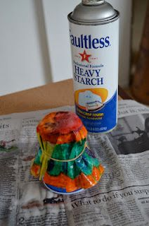 I think this may be the EASIEST Chihuly project I've found yet that doesn't require a whole lot of prep --- Coffee filters markers and starch to make a ChIhuly masterpiece!