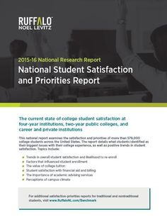 2015-16 National Student Satisfaction and Priorities Report