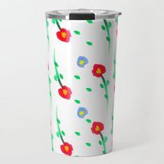 Doodle: flowers pattern Travel Mug by beebeedeigner Doodle Flowers, Flower Doodles, Best Water Bottle, Stay Hydrated, Drinking Water, Flower Patterns, Travel Mug, Mugs, Cool Stuff