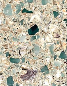 Stunning 'Santa Maria' Sea Glass Counter-tops !