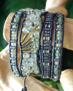 LIGHT FANFARE Intricate Beaded Gemstone от BraceletsofBlueRidge