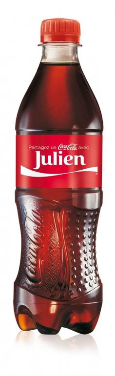Bientôt, j'aurai ma propre bouteille de Coca :). Coca-Cola lance la personnalisation par son prénom sur ses bouteilles en mai prochain.