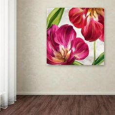 """Trademark Fine Art 35 in. """"Open Arms Iii"""" by Color Bakery Printed Canvas Wall Art, Multi Flower Painting Canvas, Artist Canvas, Canvas Wall Art, Wall Art Prints, Canvas Prints, Brown Art, Acrylic Art, Flower Art, Open Arms"""