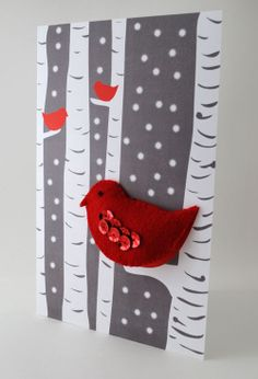 A Unique DIY Christmas Card to Make - Add a ribbon loop so it can be used as a Christmas ornament or use as a package topper!