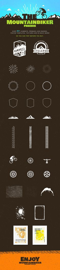 The freebie of the day is a logo design kit with an original theme that will help you create stunning mountain bike...