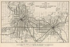 O6qGdh Twin Cities streetcar map from 1913
