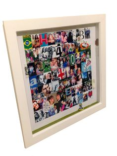 Title: A 40th birthday present Nov 2017 This was a 400 x 400mm boxedin commission for a Brazilian lad who has lived in London for the last 30 years. His last landlord commissioned it, so it features images shot whilst he lived at her house with her two daughters, as well as images I've taken in Dulwich, which was his home for 15 years. Check out the grass and subbuteo player of Pele at the bottom, which was one of his heroes. 40th Birthday Presents, Two Daughters, Being A Landlord, 15 Years, Ranges, Grass, London, Check, House