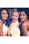 """Actress Freida Pinto posts a picture of herself alongside fellow L'Oreal faces Eva Longoria and Natasha Poly: """"Beauty in diversity! That is a little part of our L'Oreal family."""""""