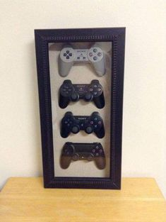 Playstation 4 3 2 1 History Decor Shadow Box Framed Playstation 4 3 2 1 History Decor Shadow Box by
