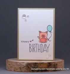 Simon Says Stamp Baby Party Animals stamp set.  Birthday