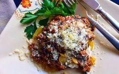 Toaster Oven Portobello Lasagna!