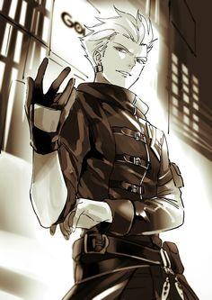 Gilgamesh Anime, King Gilgamesh, Gilgamesh And Enkidu, Handsome Anime Guys, Hot Anime Guys, Anime Boys, Fate Archer, Fate Stay Night Anime, Fate Characters