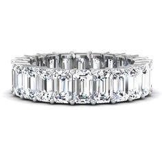 5.0 Carat Emerald Cut Diamond Eternity Band