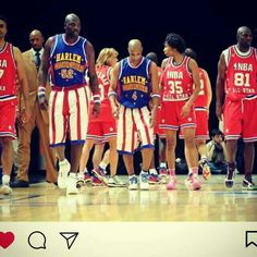 #Harlem Globetrotters have been the best all male black team. 2 .Wonder if #Neymar saw them at a 🏀 game or #AmazingRace 15,18 and 24 😊😉😉😯 coz his wearing there #Jersey