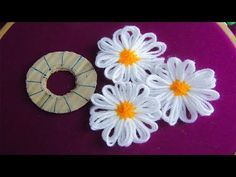 Hand Embroidery Amazing Trick# Sewing Hack With Hizab Pin# Easy Flower Embroider.- Hand Embroidery Amazing Trick# Sewing Hack With Hizab Pin# Easy Flower Embroider… Hand Embroidery Amazing Trick# Sewing Hack With Hizab… - Learn Embroidery, Hand Embroidery Stitches, Silk Ribbon Embroidery, Hand Embroidery Designs, Flower Embroidery, Embroidery Ideas, Embroidery Jewelry, Yarn Flowers, Crochet Flowers