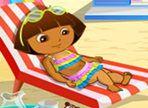Dora ha deciso di andare al mare ma deve prima sistemarsi la valigia con tutte le cose utili. Hai poco tempo a disposizione per organizzare tutto. Buona fortuna!
