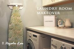 How to build a simple shelf over your front load washer and dryers to fold and sort laundry from 11 Magnolia Lane