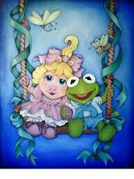 Muppet Babies by yunik-e on DeviantArt Kermit And Miss Piggy, Kermit The Frog, Good Cartoons, Classic Cartoons, Caco E Miss Piggy, Disney Pixar, Baby Artwork, Muppet Babies, The Muppet Show