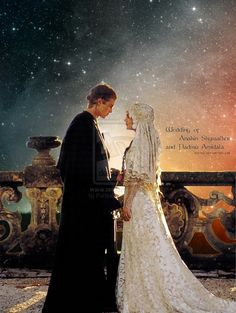 Anakin and Padme at their wedding witch is at the end of episode III