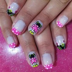 Muñeca de trapo Crazy Nails, Fancy Nails, Love Nails, Pretty Nails, Spring Nail Art, Spring Nails, Different Types Of Nails, Feet Nails, Girls Nails