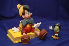Pinocho y Pepe Grillo - Porcelana Fría by Porcelana Fria Paso a Paso, via Flickr