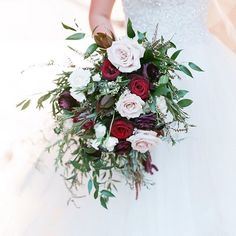 Predictions for More blush more burgundy and more cascade bouquets! ___ Photo by Cascade Bouquet, Cascading Bouquets, Fall Wedding, Wedding Ideas, Blush Color, Marsala, Color Combos, Floral Wreath, Classic