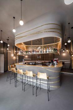Gallery of Valentin / noa* network of architecture – 7 Galerie von Valentin # 2 / noa * Netzwerk der Architektur – 7 Bar Interior, Restaurant Interior Design, Shop Interior Design, Pub Design, Coffee Shop Design, Bar Lounge, Hard Rock Hotel, Hall Hotel, Restaurant Bar