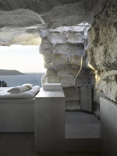 Outdoor Shower and Bed