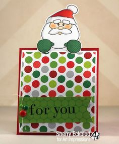 Santa gift cards noteables  3pc set. Sells for 17.50.  Made by: Art Impressions rubber stamps. You can purchase all items in my ebay store: Pat's Rubber Stamps & Scrapbooks, Click on the picture & see the listing , or call me 423-357-4334 with order, We take PayPal. You get FREE SHIPPING ON PHONE ORDERS of $30.00 or more. If it says sold I have more. Use my search engine to find the items you are interested in