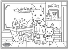 51 Best Calico Critters Coloring Pages Images Sylvanian Families