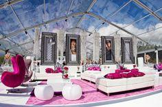 Amazing tent wedding lounge space