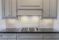 countertops backsplash ideas grey painted cabinets with white marble pillowed subway tile black