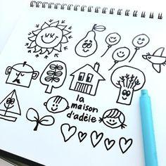 "doodlewonder: ""Today's Doodle! Banner, Doodles, Bullet Journal, Notes, Lettering, Cartoon, Writing, Illustration, Happy"