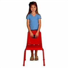 """Creative Mix and Match 14"""" Plastic Classroom Stacking Chair Seat Color: Red, Foot Type: Ball, Leg Color: Black by Mahar. $29.51. 14CHR+(SEAT-RD)(BALL FOOT)(LEG-BK) Seat Color: Red, Foot Type: Ball, Leg Color: Black Features: -Choose matching ball or self-leveling nickel glides.-Manufactured to industry safety standards.-Can be stacked or turned over on desks or tables.-Must be ordered in sets of 4, call for availability of other quantities.-NOTE: Orders of multiple products f..."""