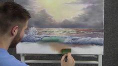 Pintura Em Tela à Óleo - Pastel Morning Wave - Paint with Kevin Hill (maravilhoso! Oil Painting Lessons, Painting Videos, Painting & Drawing, Painting Tutorials, Pinturas Em Tom Pastel, Kevin Hill Paintings, Pastel Art, Painting Techniques, Art Oil