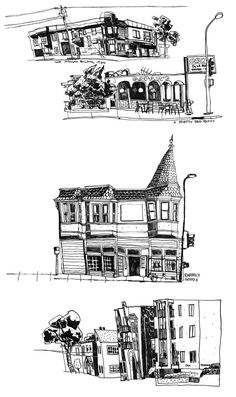 Mike Dutton :: Some buildings along Shattuck Avenue in Berkeley, CA