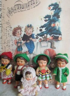 Vintage Ari German rubber dolls.