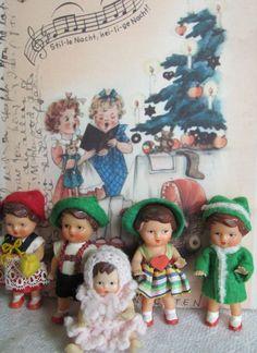 Vintage Ari German rubber dolls.