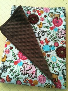 Coconut Love: How To Make a Minky Baby Blanket (First Time Sewing With Minky)--nice directions