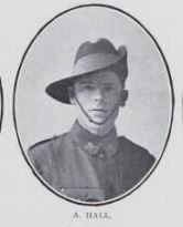 HALL,   Alexander.   Corporal,   No.   3364,   49th  Battalion.   Born   in   Sydney   and   educated   at   Maryborough.   He   is   the   son   of   the   late   John  Hall   and   Mary   Ann   Hall,   of   Ferry   and   Walker   Streets,   Maryborough.