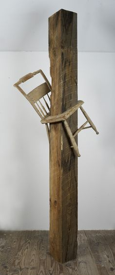 sculpture - tom shields,let's do this with the green beams