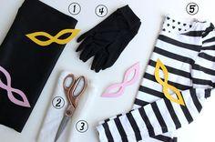Super dicas para aproveitar uma mesma peça de roupa em 5 fantasias de Carnaval. Escolha entre as fantasias de mímica, ladra, pirata, marinheira e pierrot!