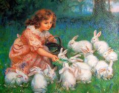 Alice In Wonderland - Feeding The Rabbits
