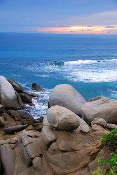 Cabo San Juan, Parque Tayrona, Caribbean Sea in Colombia