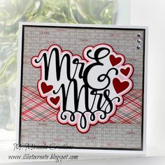 M. Miranda Creations: Mr & Mrs - Bridal Shower Card