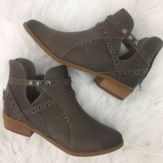 f4fa9791020 STEP BY STEP BROWN BOOTIES. Apricot Lane BoutiqueBlock HeelsClogsAutumn ...