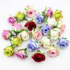 Comprar 20 peças de 3-4 cm Artificial silk Rose Cabeça de flor Scrapbooking  Flores 29b9c3e8a5d