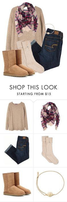 """""""What sets do you guys want me to make?"""" by rachel-danca ❤ liked on Polyvore featuring MANGO, American Eagle Outfitters, UGG, UGG Australia and Alex and Ani"""