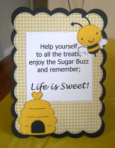 I decided to do a Bumble Bee theme for my daughter's first birthday last year. Bumble Bee Birthday, Baby Birthday, First Birthday Parties, Birthday Party Themes, First Birthdays, Birthday Ideas, Baby Shower Themes, Baby Shower Decorations, Bumble Bee Decorations