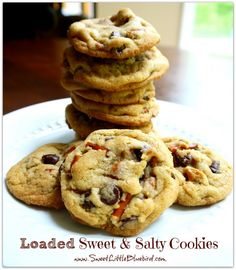 Loaded Sweet & Salty Cookies - Semi-sweet chocolate chips, Reese's peanut butter chips, pieces of pretzels and caramel bits...a sweet & salty winner!